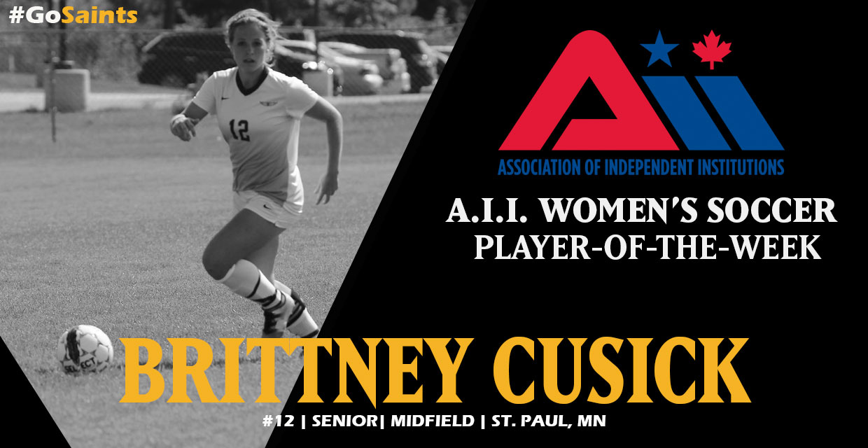 Photo for Cusick Earns A.I.I. Women's Soccer Player-Of-The-Week Honor