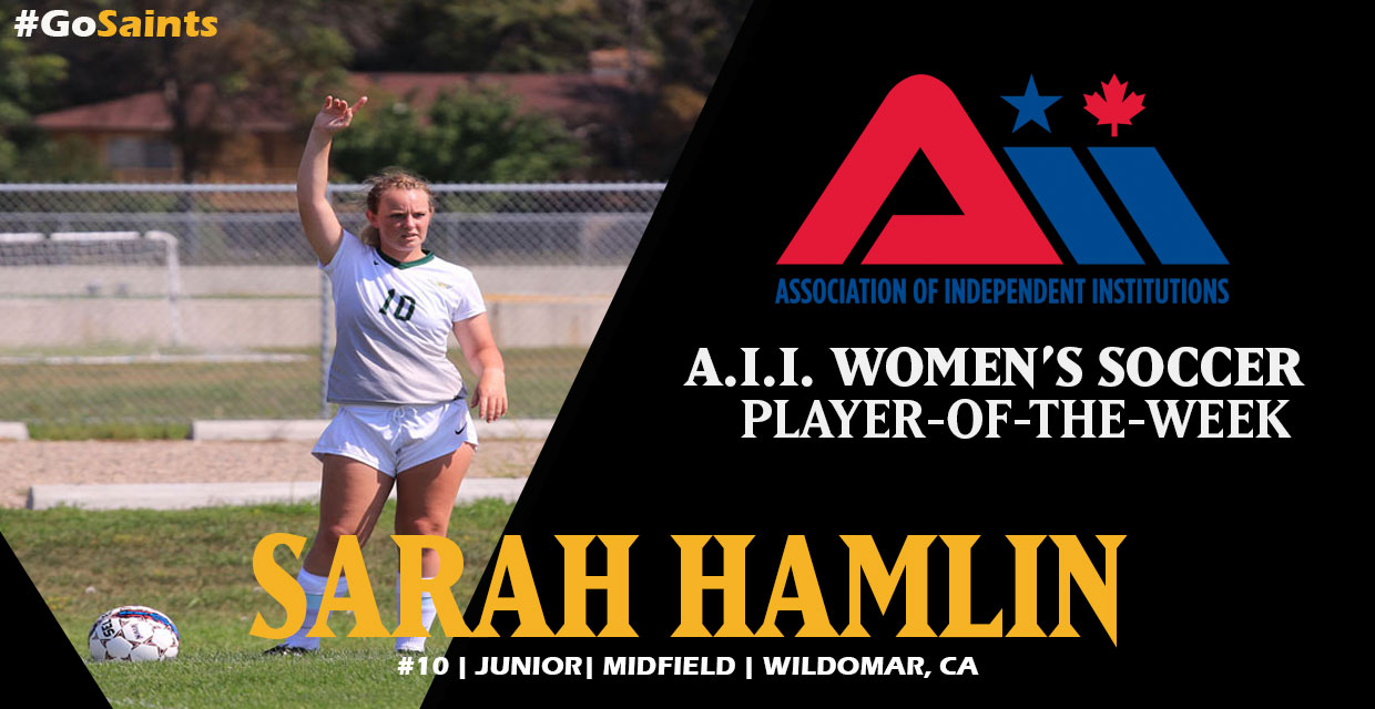 Photo for Sarah Hamlin Earns A.I.I. Player-of-the-Week Honors